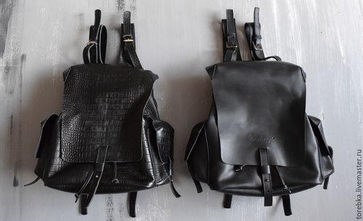Рюкзаки ручной работы. Ярмарка Мастеров - ручная работа. Купить крокодил или гладкий рюкзак. Handmade. Черный, тиснение, хипстер