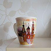 """Посуда ручной работы. Ярмарка Мастеров - ручная работа Чашка """"Старая Прага"""". Handmade."""
