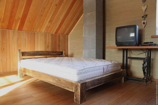 Мебель ручной работы. Ярмарка Мастеров - ручная работа. Купить Кровать полуторная 140-190см. Handmade. Коричневый, кровать, Мебель