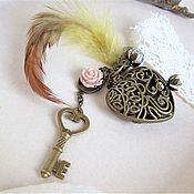 Аксессуары handmade. Livemaster - original item Heart keychain for Bag Keys Backpack Feather Gift Girl. Handmade.