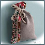 Для дома и интерьера ручной работы. Ярмарка Мастеров - ручная работа Льняной мешочек для сухой травы и других продуктов - ручная вышивка. Handmade.