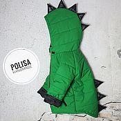 Работы для детей, ручной работы. Ярмарка Мастеров - ручная работа Зимняя теплая куртка Динозавр. Handmade.