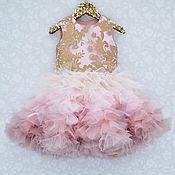 """Платье ручной работы. Ярмарка Мастеров - ручная работа Платье для девочки """"Пудровый градиент"""". Handmade."""