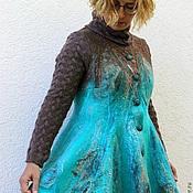 """Одежда ручной работы. Ярмарка Мастеров - ручная работа Жакет валяный """"На далеких островах"""". Handmade."""