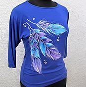 """Одежда ручной работы. Ярмарка Мастеров - ручная работа Джемпер """"Синяя птица"""". Handmade."""