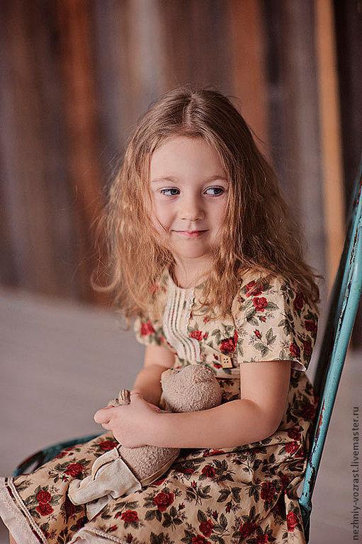 """Одежда для девочек, ручной работы. Ярмарка Мастеров - ручная работа. Купить Платье для девочки """"Прованс"""". Handmade. Бежевый, Оригинальная одежда"""