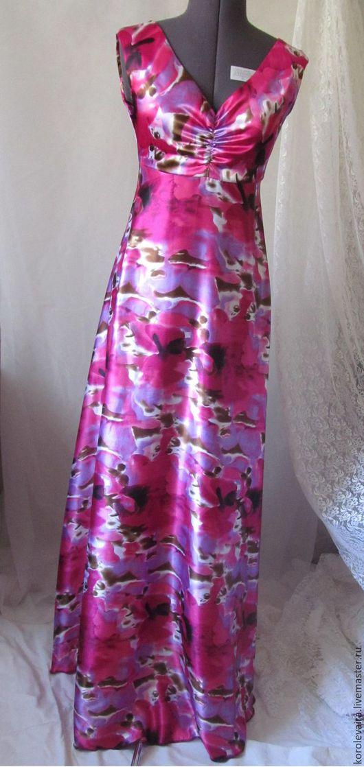 Платье в пол для девушки 168-170см, расчитано под 10-12см каблук. Лёгкое струящееся для яркой девушки подойдёт для званного ужина или яркого события- вечеринки, не оставит равнодушным никого!