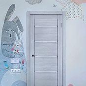 Дизайн ручной работы. Ярмарка Мастеров - ручная работа Роспись стены в детской комнате. Handmade.