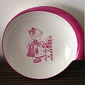 """Посуда ручной работы. Ярмарка Мастеров - ручная работа Тарелка """"Мальнькая хозяюшка"""". Handmade."""