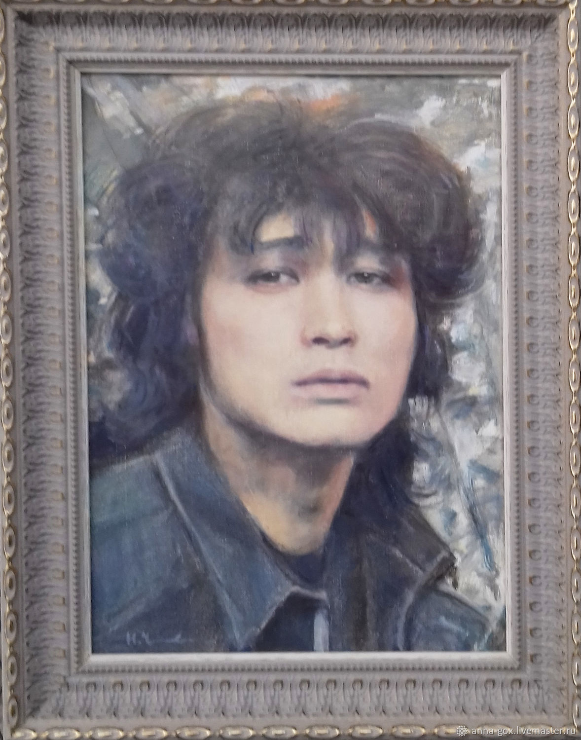Portrait of Viktor Tsoi/ 25h30 cm/ oil on canvas, Pictures, Moscow,  Фото №1