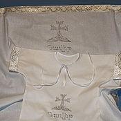 Christening set handmade. Livemaster - original item Armenian inscribed set. Handmade.