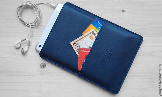 Для телефонов ручной работы. Ярмарка Мастеров - ручная работа. Купить Кожаный чехол для iPad mini, Air. Handmade. Однотонный