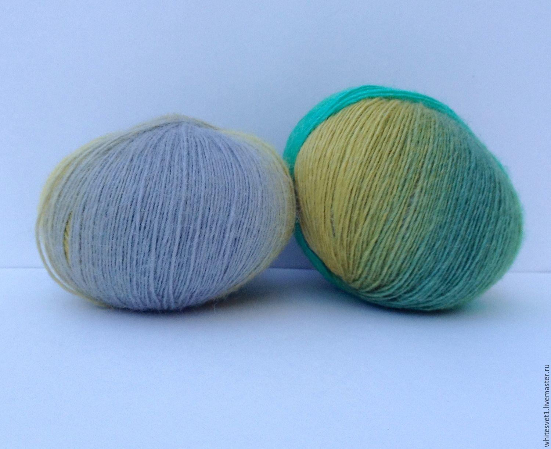 Нитки для вязания шерсть шелк