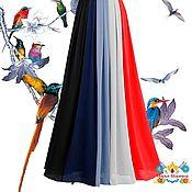 """Одежда ручной работы. Ярмарка Мастеров - ручная работа юбка из 5 цветов шифона 10-клинка """"Доминанта"""". Handmade."""