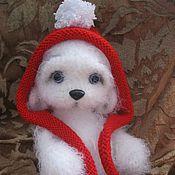 Куклы и игрушки ручной работы. Ярмарка Мастеров - ручная работа Скромный Белый Мишка. Handmade.