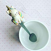 """Посуда ручной работы. Ярмарка Мастеров - ручная работа Ложка """"Волшебный единорог"""". Handmade."""