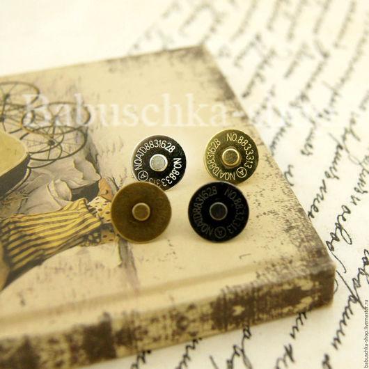 Шитье ручной работы. Ярмарка Мастеров - ручная работа. Купить Магнитная кнопка 1,4 см - 4 цвета. Handmade.