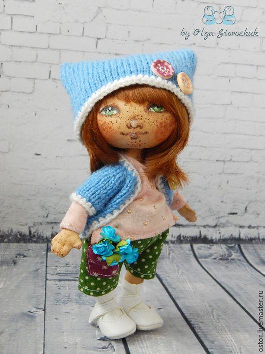 Коллекционные куклы ручной работы. Ярмарка Мастеров - ручная работа. Купить Куколка Викуля. Handmade. Кукла ручной работы, синтепух