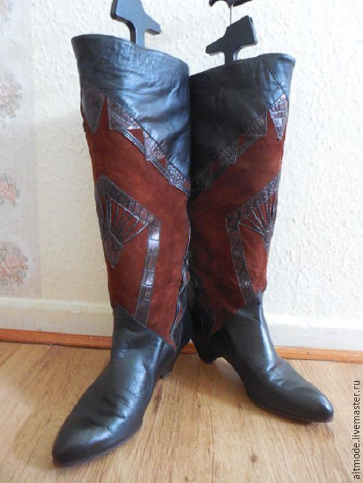 ede3299dc Ярмарка Мастеров - ручная работа. Купить Винтаж: Винтажные женские кожаные  сапоги, ...