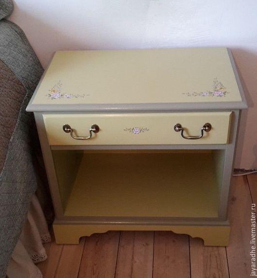 Мебель ручной работы. Ярмарка Мастеров - ручная работа. Купить Тумбочка для Ирины. Handmade. Оливковый, мебель прованс, перекраска мебели