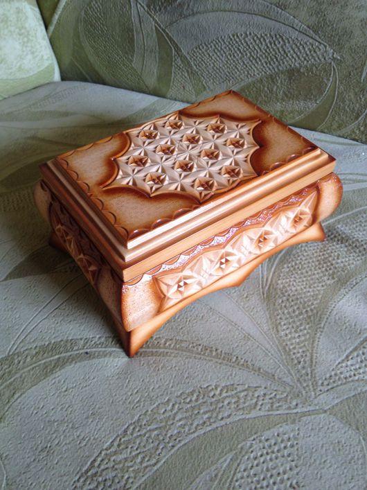 Шкатулки ручной работы. Ярмарка Мастеров - ручная работа. Купить Шкатулка деревянная резная. Handmade. Бежевый, шкатулка деревянная