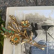 Винтаж handmade. Livemaster - original item Sunny patio. Romantic brooch.. Handmade.