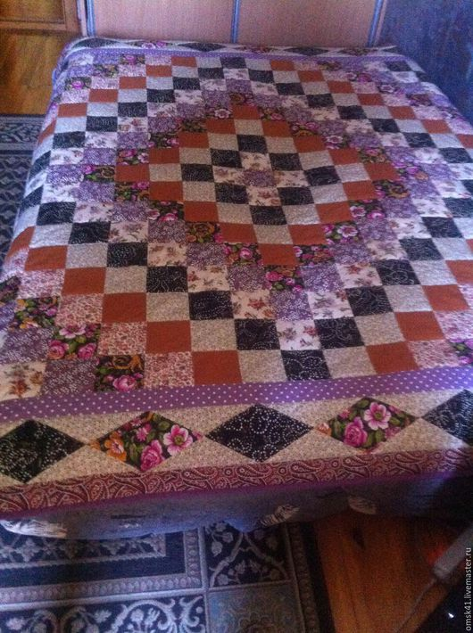 Текстиль, ковры ручной работы. Ярмарка Мастеров - ручная работа. Купить Цветочные фантазии, сиреневые мечты. Handmade. Сиреневый