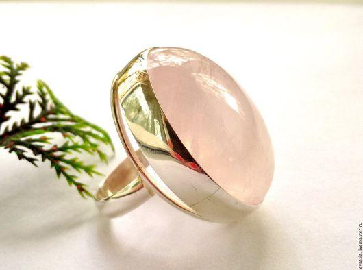 """Серьги ручной работы. Ярмарка Мастеров - ручная работа. Купить Кольцо""""Розовый жасмин""""-розовый кварц,серебро 925. Handmade."""