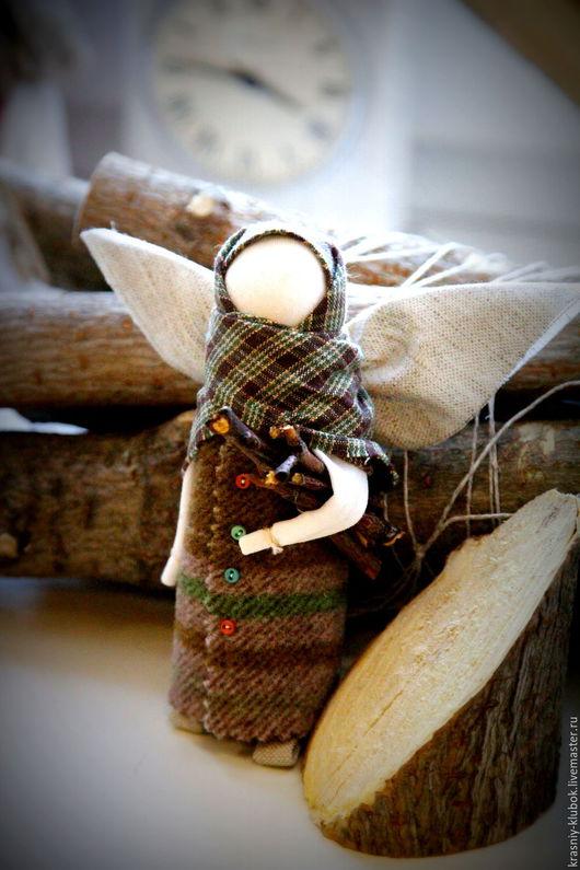Коллекционные куклы ручной работы. Ярмарка Мастеров - ручная работа. Купить Ангел с дровишками. Handmade. Разноцветный