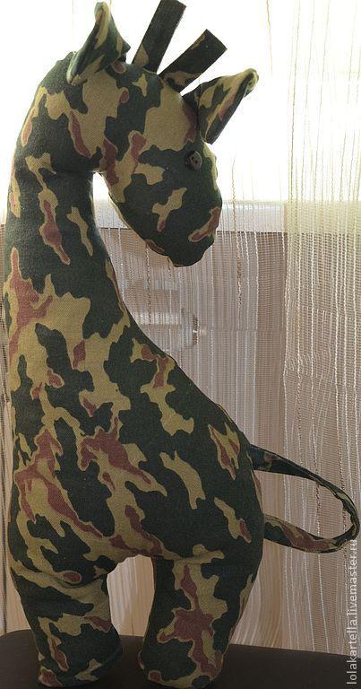 Текстиль, ковры ручной работы. Ярмарка Мастеров - ручная работа. Купить Игрушки-подушки Жираф и Мышь. Handmade. Хаки