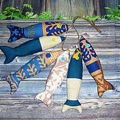 Мягкие игрушки ручной работы. Ярмарка Мастеров - ручная работа Текстильные рыбки.. Handmade.