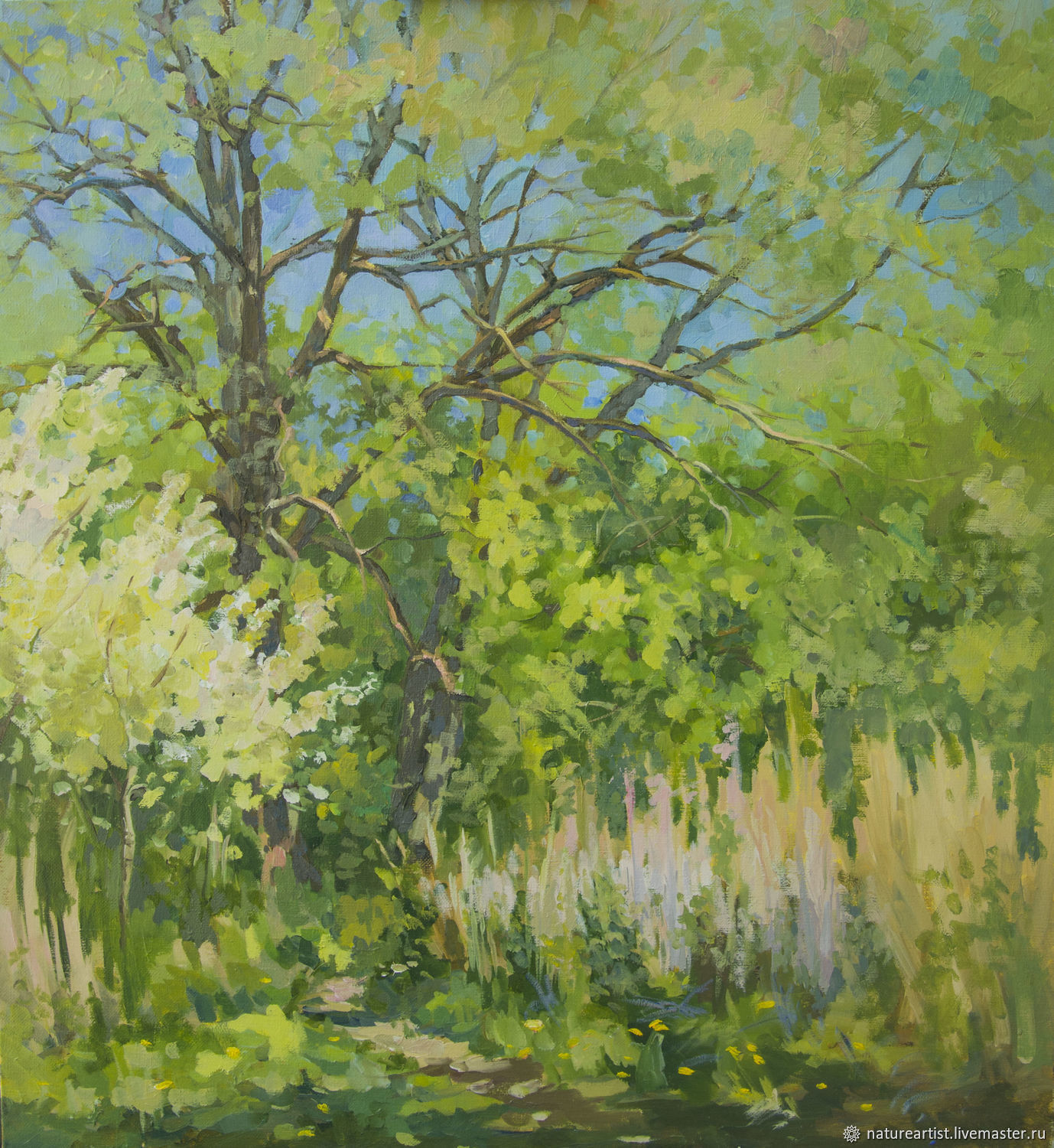 Oil painting landscape Spring, Pictures, Moscow,  Фото №1
