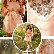Одежда handmade. Livemaster - original item Dress easy Soft tulle embroidery. Handmade.