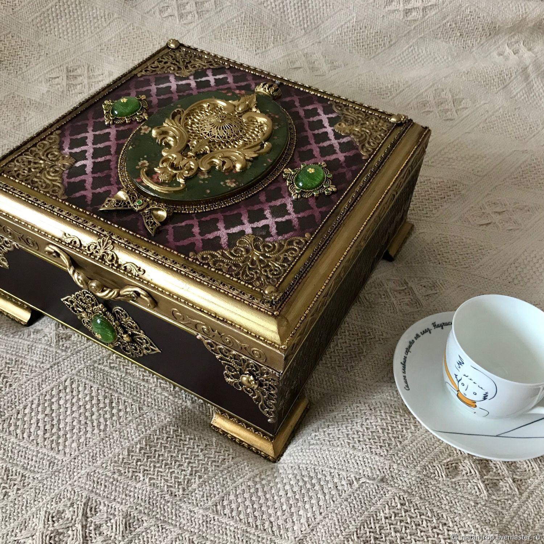 Большая чайная шкатулка на 9 ячеек, Шкатулки, Санкт-Петербург,  Фото №1