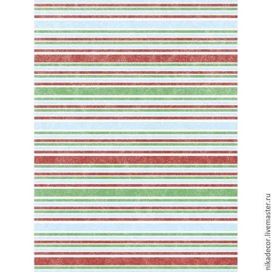 Декупаж и роспись ручной работы. Ярмарка Мастеров - ручная работа. Купить Весенние полоски (CP00607) - рисовая бумага, А3. Handmade.