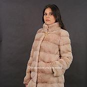Одежда ручной работы. Ярмарка Мастеров - ручная работа Шуба из норки 80 см цвет розовый. Handmade.