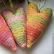 Подарки к праздникам ручной работы. Ярмарка Мастеров - ручная работа Набор елочных игрушек «Карамельное сердце». Handmade.