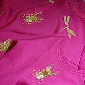"""Одежда ручной работы. Ярмарка Мастеров - ручная работа Свитшот  и свитшотик """"Легкокрылые"""" (для мамы и дочки). Handmade."""