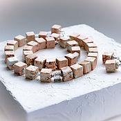 Украшения handmade. Livemaster - original item Ocean Jasper and amazonite jewelry sets. Handmade.