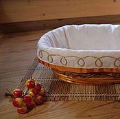Подарки к праздникам ручной работы. Ярмарка Мастеров - ручная работа Плетеная корзина декорированная Хозяюшка. Handmade.