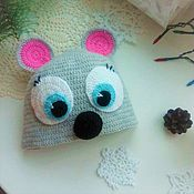 Работы для детей, handmade. Livemaster - original item Mouse - hat knitted. Handmade.