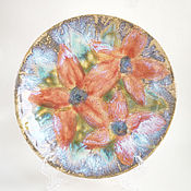 Посуда ручной работы. Ярмарка Мастеров - ручная работа Тарелка «Цветы» new. Handmade.