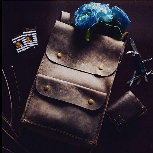 """Рюкзаки ручной работы. Ярмарка Мастеров - ручная работа. Купить Рюкзак из натуральной кожи """"Путешественник"""". Handmade. Кожа, рюкзак кожаный"""
