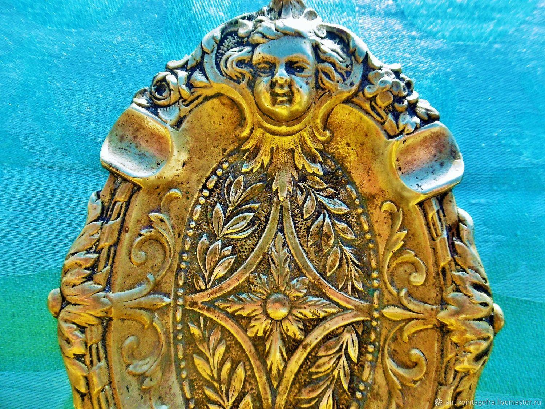 Винтаж: Старинная тарелочка пепельница Deux angelots бронза Арт нуво Франция, Винтажные предметы интерьера, Орлеан, Фото №1
