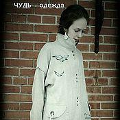 Одежда ручной работы. Ярмарка Мастеров - ручная работа Пальто лён.  ЧУДЬ. Handmade.