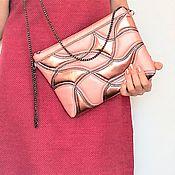 Сумки и аксессуары handmade. Livemaster - original item Women`s Yin&Yang clutch bag, pink. Handmade.