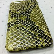 Сумки и аксессуары handmade. Livemaster - original item Python skin pad, for Apple iPhone 6Plus. Handmade.