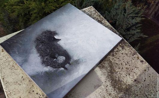 """Символизм ручной работы. Ярмарка Мастеров - ручная работа. Купить картина маслом """"ежик в тумане"""". Handmade. Ежик в тумане"""