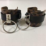 Украшения handmade. Livemaster - original item Handcuffs genuine leather. Handmade.