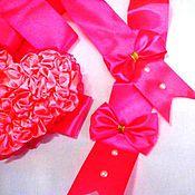 Подарки к праздникам ручной работы. Ярмарка Мастеров - ручная работа Бант на выписку из роддома для девочки. Handmade.